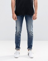 Lee Luke Skinny Jeans Nowhere Blue Distressed