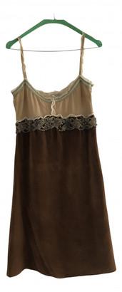 Miu Miu Brown Wool Dresses