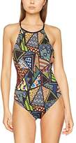 Jaded London Women's Rasta Bead Print High Neck Swimsuit