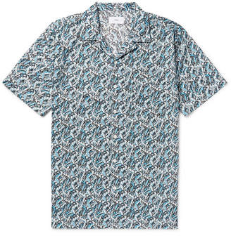 Onia + Liberty London Vacation Camp-Collar Printed Cotton-Poplin Shirt