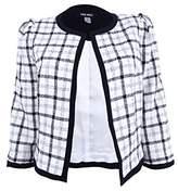 Nine West Women's Plaid Jacket