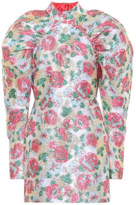 Rotate by Birger Christensen Kim floral jacquard minidress