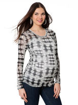 A Pea in the Pod BCBG Long Sleeve Scoop Neck Maternity Shirt