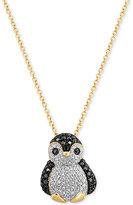 Effy Diamond Penguin Pendant Necklace (5/8 ct. t.w.) in 14k Gold