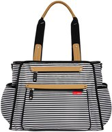 Skip Hop Grand Central Diaper Tote - Black Stripe