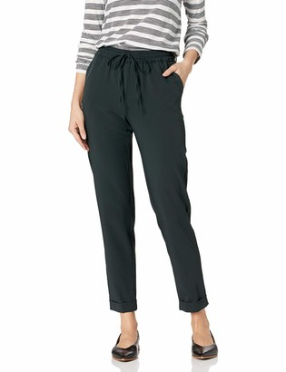 Daily Ritual Women's Standard Fluid Stretch Woven Twill Cuffed Pant