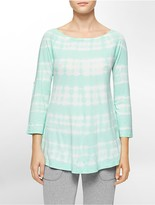 Calvin Klein Performance Tie Dye Stripe Roll-Up Sleeve Tunic