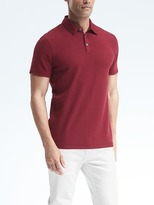 Banana Republic Waffle-Stitch Supima® Cotton-Modal Polo