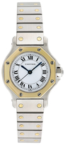Cartier Vintage Santos Octagon 18K Yellow Gold & Stainless Steel Automatic Watch, 25mm