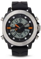 Hugo Boss 1512678 Analog Digital Silicone Strap Sporty Diver Watch One Size Assorted-Pre-Pack