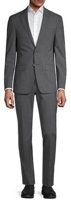 Calvin Klein Extra Slim-Fit Plaid Suit