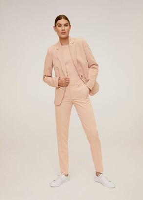 MANGO Belt suit pants pink - 1 - Women
