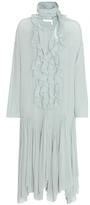 Chloé Ruffled crêpe silk midi dress