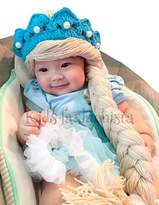 Justkiddings Disney Frozen Elsa Princess Knit baby girl Hat with Braids (xl)