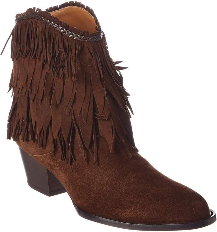 Aquazzura Pocahontas 45 Suede Cowboy Boot