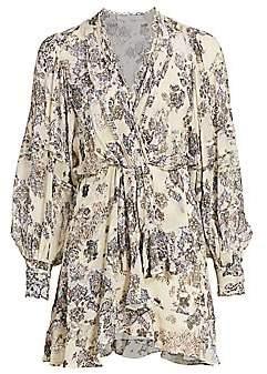 IRO Women's Patchak Ruffled Tapestry Print Mini Dress