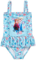 Disney Princess Solid One Piece Swimsuit Toddler Girls
