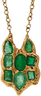 Lucifer Vir Honestus Emerald Owl Pendant Necklace