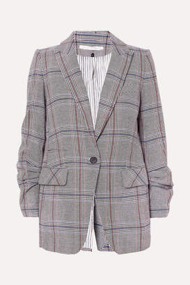 Veronica Beard Elektra Prince Of Wales Checked Cotton-blend Blazer - Gray