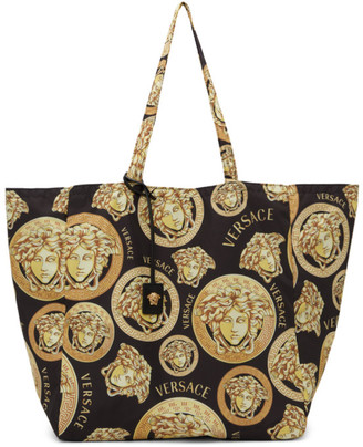 Versace Gold Medusa Amplified Tote