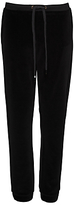 French Connection Albany Velvet Joggers, Black