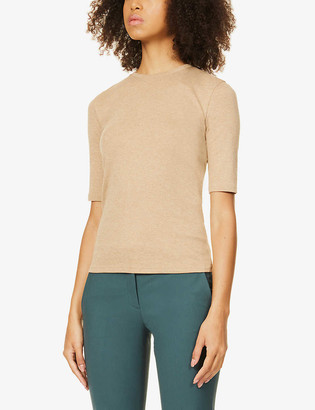 Vince Marl-print cotton and modal-blend T-shirt