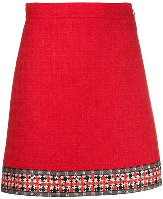 Gucci Tweed A-Line Skirt