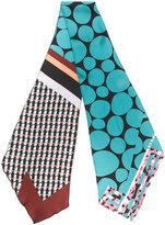 Marni mixed print scarf - women - Silk - One Size