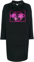 Kenzo World sweatshirt dress - women - Cotton/Polyester - XS