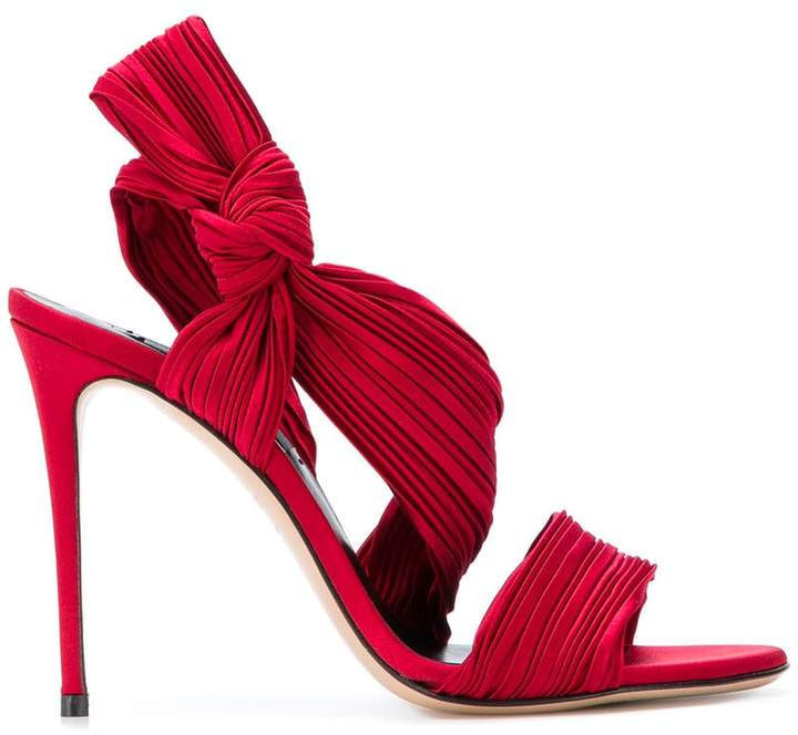 Casadei micro-pleated sandals