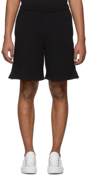 Off-White SSENSE Exclusive Black 3D Diagonal Shorts