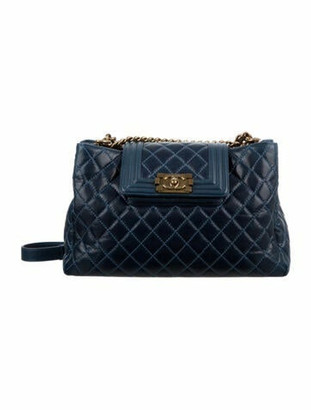 Chanel Quilted Boy Tote Navy