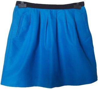 Claudie Pierlot Blue Cotton Skirt for Women