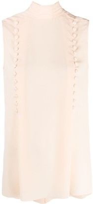 Givenchy Button-Detail Sleeveless Blouse