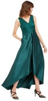 Adrianna Papell High-Low Mikado Gown