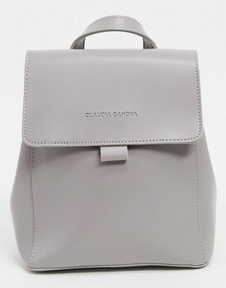 Claudia Canova mini backpack with flapover in grey