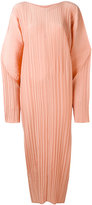 Jil Sander cocoon sleeve ribbed dress - women - Silk - 34