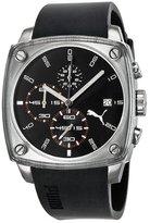 Puma Men's PU102591002 Shade Large Three-Hand Date Silver Black Watch