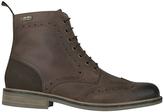 Barbour Belsay Derby Brogue Boots Dark Tan