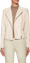 Lafayette 148 New York Women's Leather Cropped Motorcycle Jacket