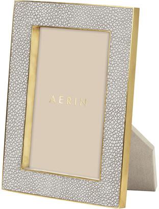 """AERIN Dove Shagreen Frame - 4x6"""""""