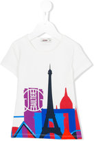 Junior Gaultier Paris cityscape T-shirt - kids - Cotton/Spandex/Elastane - 4 yrs