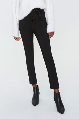 Forever 21 Tie-Waist Ankle Pants