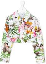 MonnaLisa cropped floral jacket