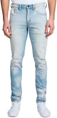 PRPS Men's Windsor Fit Hand-Painted Light-Wash Denim Jeans