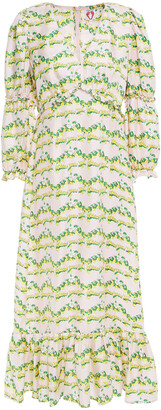 Shrimps Rosemary Printed Silk-twill Midi Dress