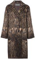 Alberta Ferretti tiger print coat