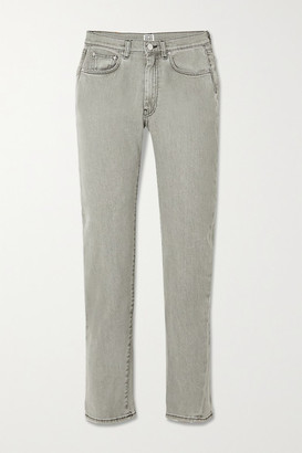 Totême Original Cropped High-rise Straight-leg Jeans - Gray