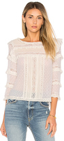 Rebecca Taylor Moon Dot Top in White. - size 0 (also in 2,4,6,8)