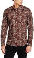 Pretty Green Men's Hornchurch Long Sleeve Regular Fit Casual Shirt